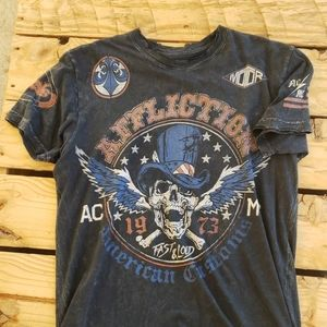 Distressed Affliction American Customs Tee